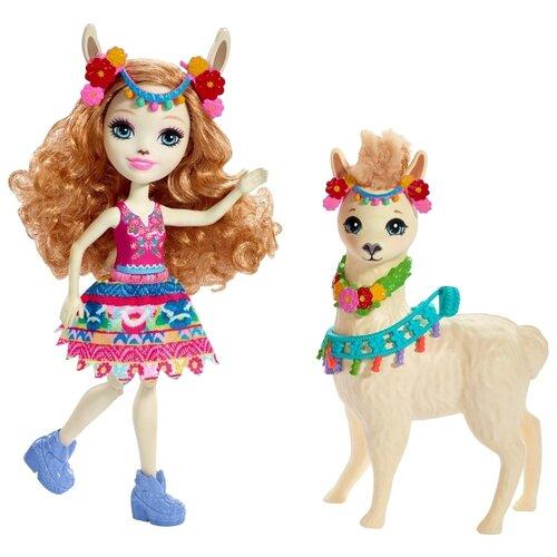 Купить Кукла Enchantimals Лама Ллуэлла с любимой зверюшкой, 15 см, FRH42, Куклы и пупсы