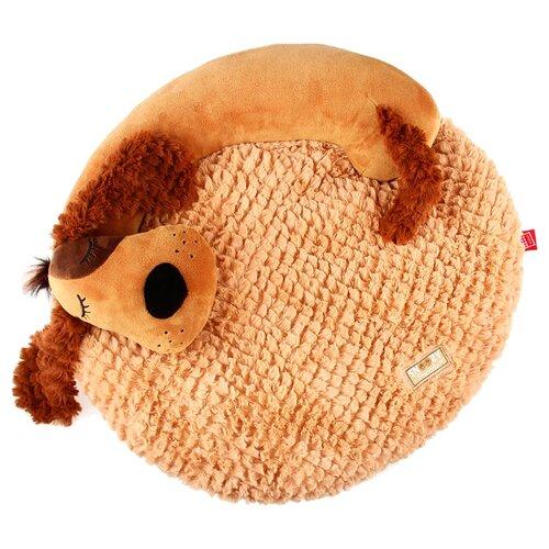 Лежак для собак и кошек GiGwi Snoozy Friendz Собака 3D 57х50х5 см коричневый