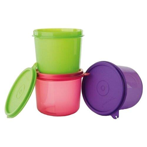 Tupperware Набор высоких контейнеров «Хит-парад» зеленый/красный/фиолетовый