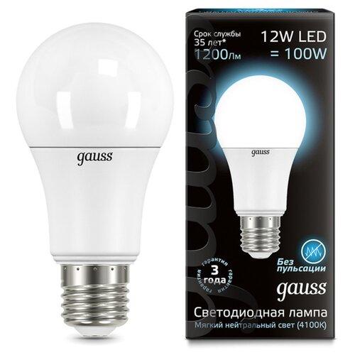 Лампа светодиодная gauss E27, G60, 12ВтЛампочки<br>