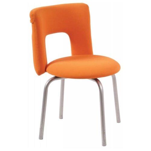 Стул Бюрократ KF-1, металл/текстиль, цвет: оранжевый 26-29-1