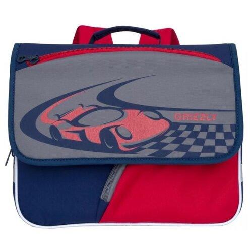Grizzly Рюкзак (RK-997-1), темно-синий/серый/красный grizzly рюкзак школьный grizzly темно синий