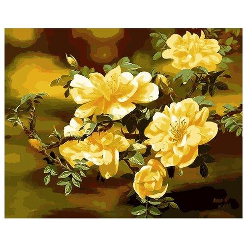 ВанГогВоМне Картина по номерам Желтый шиповник, 40х50 (ZX 21471) картина по номерам вангогвомне рыцарский замок