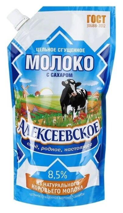 Сгущенное молоко Алексеевское цельное с сахаром 8.5%, 650 г