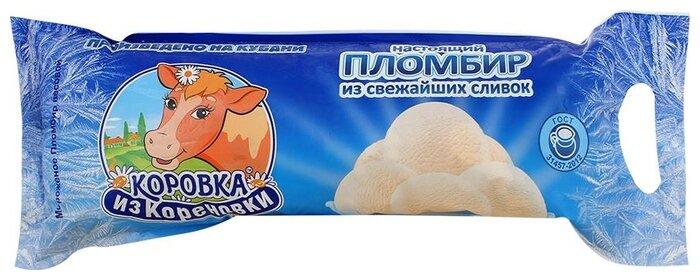 Мороженое пломбир Коровка из Кореновки из свежайших сливок, 1 кг
