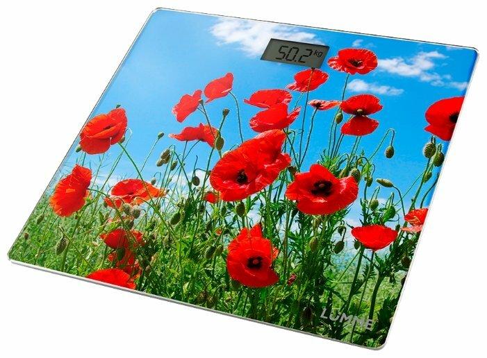 Весы напольные Lumme LU-1328 красные маки