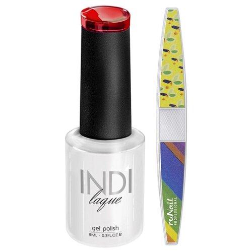Набор для маникюра Runail пилка для ногтей и гель-лак INDI laque, оттенок 3069 набор для нейл арта пилка для ногтей runail professional гель лак indi laque тон 3708 9 мл