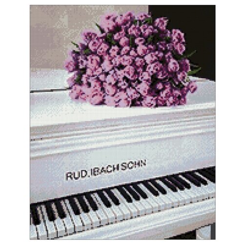 Гранни Набор алмазной вышивки Розы на рояле (ag5815) 38x48 смАлмазная вышивка<br>