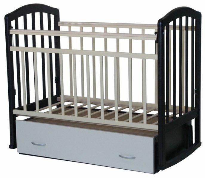Кроватка Антел Алита-4 (с ящиком) (качалка)