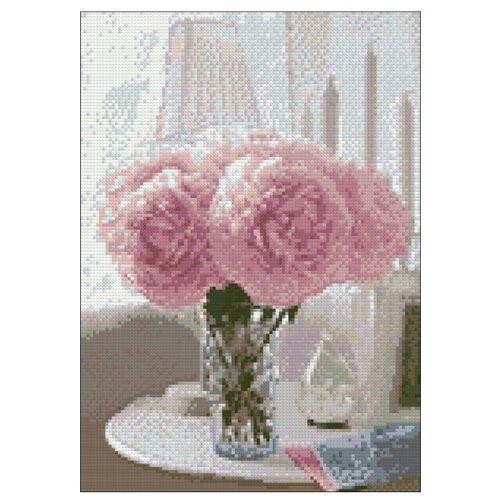 Купить Гранни Набор алмазной вышивки Нежные пионы (ag4613) 27x38 см, Алмазная вышивка
