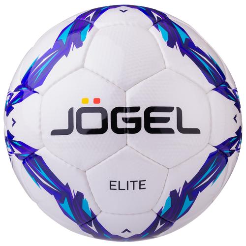 Футбольный мяч Jogel Elite белый/голубой/фиолетовый 5