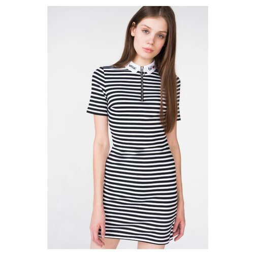 Платье Befree размер: 42 черный/белый джинсы befree befree be031ewuxv50