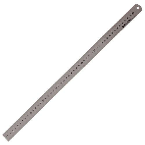 BRAUBERG Линейка металлическая 50 см (210310) серебристый