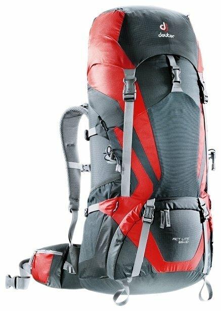Рюкзак deuter ACT Lite 65+10 red/grey (granite/fire)