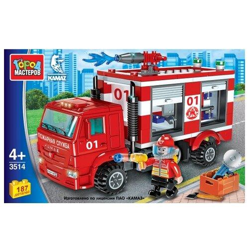 Купить Конструктор ГОРОД МАСТЕРОВ Пожарная служба 3514 Пожарный камаз, Конструкторы