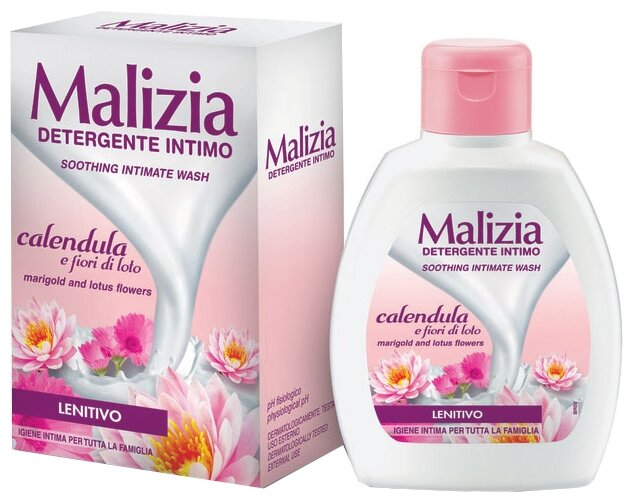 Malizia Гель для интимной гигиены Calendula and Aloe, 200 мл