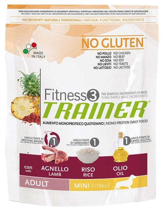 Корм для собак TRAINER Fitness3 No Gluten Adult Mini Lamb and Rice dry (0.8 кг)