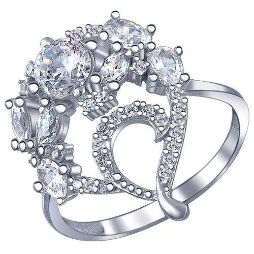 Эстет Кольцо с 34 фианитами из серебра 01К1511046, размер 16 ЭСТЕТ