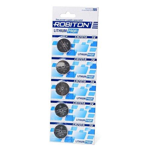 Батарейка ROBITON Lithium Profi CR2016, 5 шт. недорого