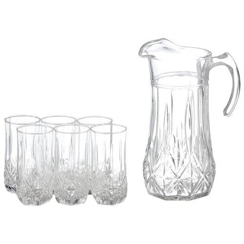 Набор Luminarc Brighton кувшин + стаканы 7 предметов прозрачный