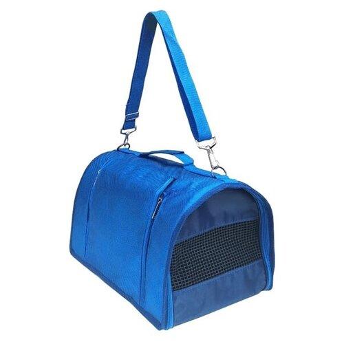 Сумка-переноска для собак Теремок СП-22 40х26х25 см синий