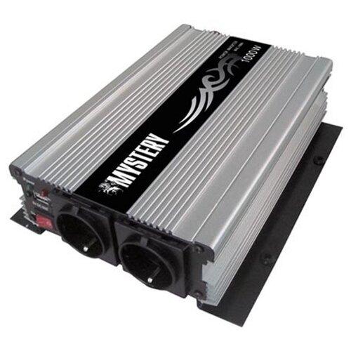 Преобразователь напряжения Mystery MAC-1000 серый/черный