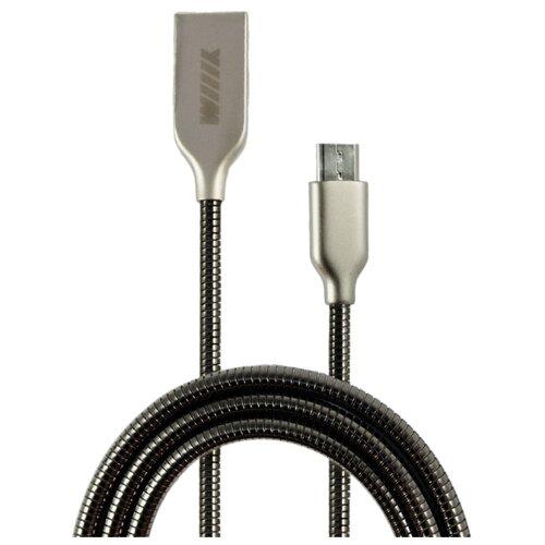 Кабель WIIIX USB - microUSB (CB850-UMU-Z-10) 1 м черныйКомпьютерные кабели, разъемы, переходники<br>