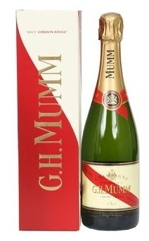 Шампанское G.H.Mumm Cordon Rouge, 0.75 л, подарочная упаковка