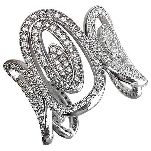 Эстет Кольцо с фианитами из серебра 01К1510698, размер 16 ЭСТЕТ