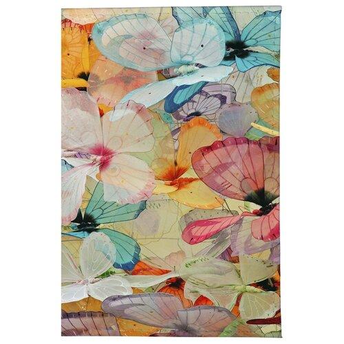 Обложка для паспорта Mitya Veselkov Цветные бабочки OZAM165, Принт