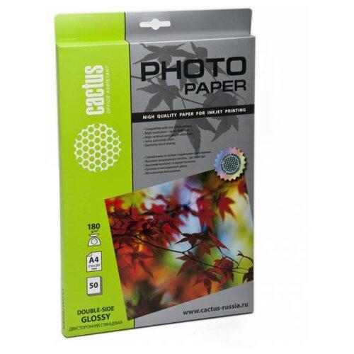 Фото - Бумага cactus A4 CS-GA418050DS 180 г/м² 50 лист., белый бумага cactus cs ga418050ds a4 180г кв м глянцевая 50л