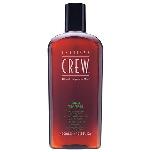Купить Гель для душа, шампунь и кондиционер American Crew 3-in-1 Tea Tree, 450 мл