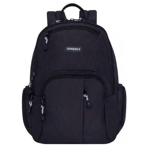 Рюкзак Grizzly RU-807-1 16 черный рюкзак grizzly ru 804 3 2 black lime green