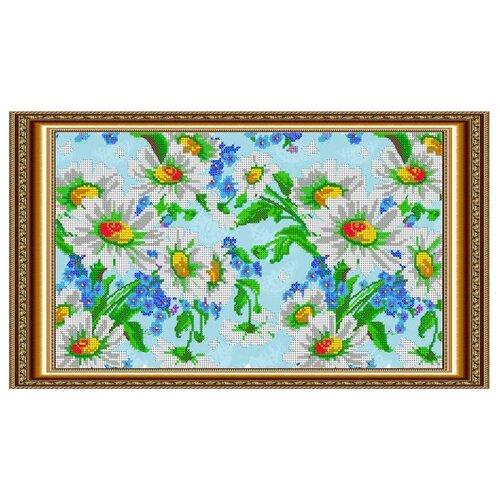 Светлица Набор для вышивания бисером Ромашки 37,9 х 21,8 см (037)