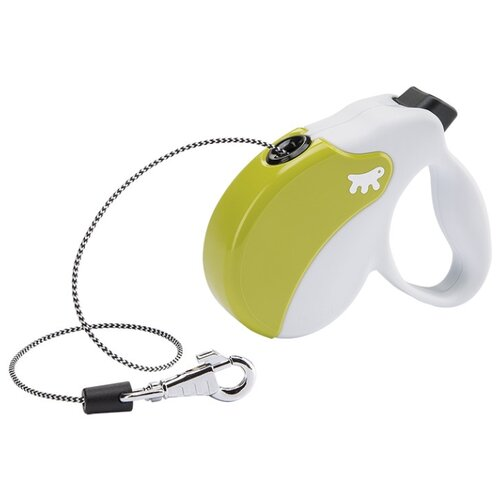 Поводок-рулетка для собак Ferplast Amigo cord mini белый/зеленый 3 м поводок рулетка для собак ferplast amigo tape s серый 5 м