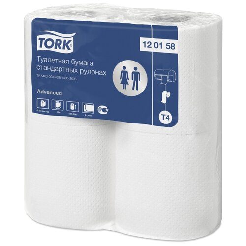 Туалетная бумага TORK Advanced 120158 4 рул. туалетная бумага tork universal 120195 1 рул