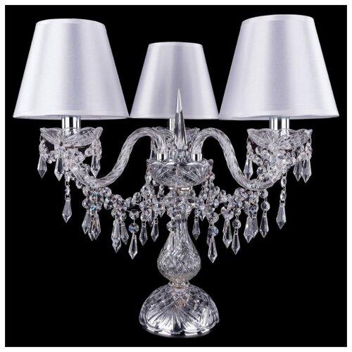 Настольная лампа Bohemia Ivele Crystal 1403L/3/141-39 Ni SH21-160, 120 Вт настольная лампа bohemia ivele crystal 1406l 3 141 39 g sh13a 160 120 вт