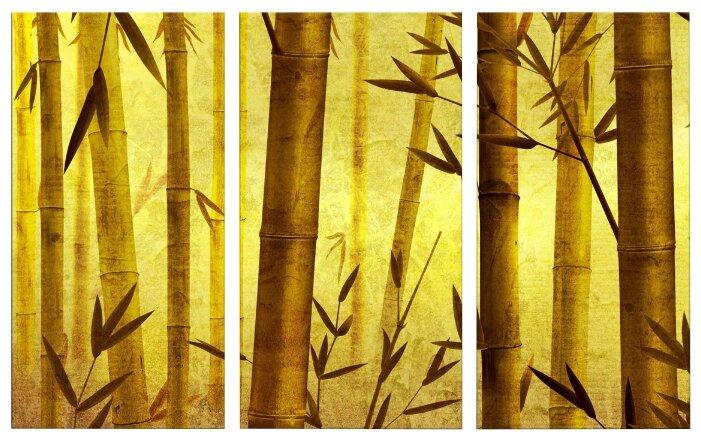 Модульная картина Картиномания Бамбуковая роща