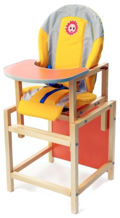Купить Стульчик-парта СЕНС-М Солнышко оранжевый по низкой цене с доставкой из Яндекс.Маркета