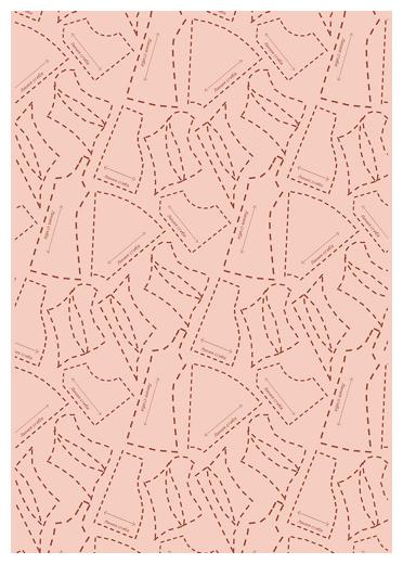 Ткань PePPY ВЕК МОДЫ для пэчворка панель фасовка 60 x 110 см 146±5 г/кв.м выкройки