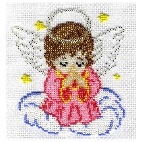 М.П.Студия Набор для вышивания бисером Ангелочек в розовом 12 x 14 см (БК-183)