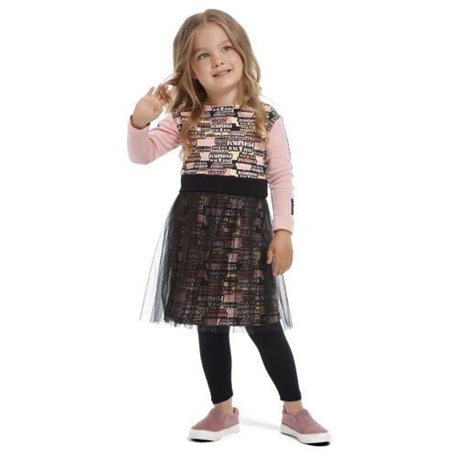 шорты для мальчика lucky child летний марафон цвет голубой 19 341 размер 86 92 Платье lucky child размер 26 (86-92), розовый