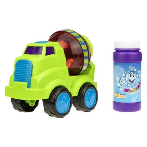 Машина для мыльных пузырей Мы-шарики! Бетономешалка 118 мл Т17286 зеленый