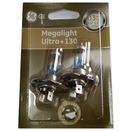 Лампа автомобильная галогенная General Electric Megalight Ultra 50440XNU H4 12V 60/55W 2 шт. спот megalight xfst1d black