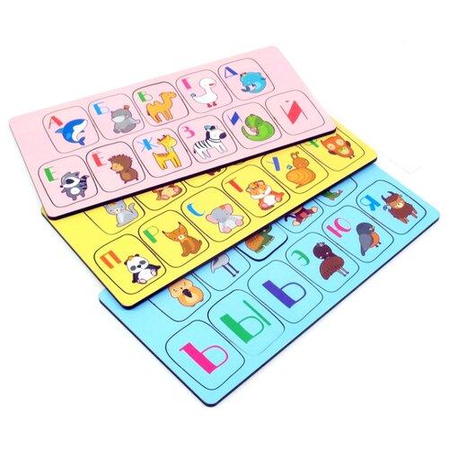 Купить Набор рамок-вкладышей PAREMO Алфавит Животные (PE720-170), Пазлы