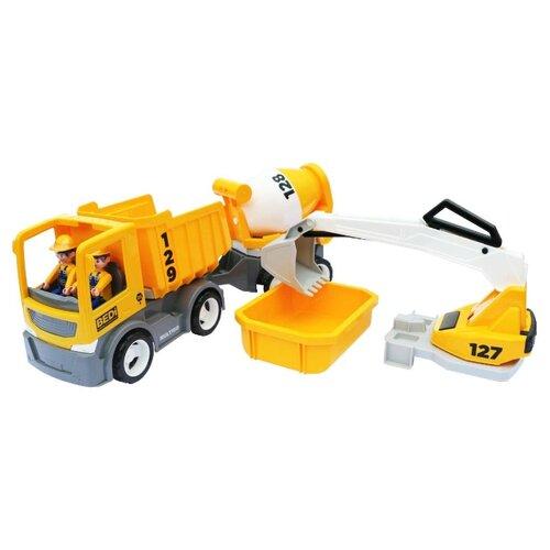 Купить Машинка Efko Multigo Build Set (27313) желтый, Машинки и техника