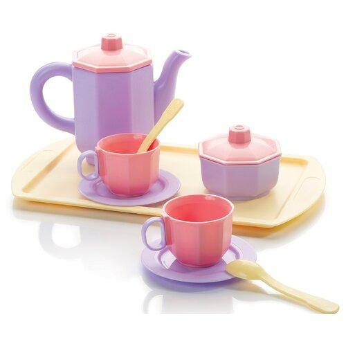 Купить Набор посуды ОГОНЁК Чайный набор Принцесса С-1462 розовый/лимонный, Игрушечная еда и посуда