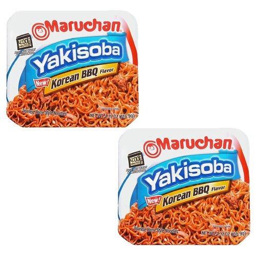 Лапша быстрого приготовления Маручан Якисоба Корейское барбекю (2 шт. по 116,9 г)