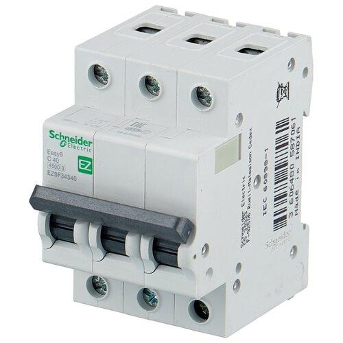 Автоматический выключатель Schneider Electric Easy 9 3P (C) 4,5kA 40 А автоматический выключатель schneider electric ez9f34306 easy 9 3p 6a c