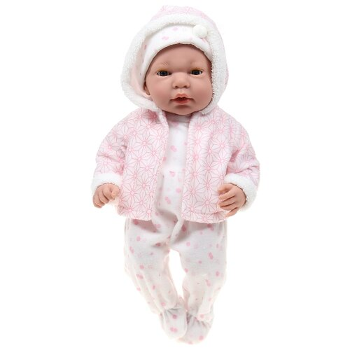 Интерактивный пупс Arias Elegance в одежде розовых тонов с узором, 38 см, Т16351 интерактивный пупс arias elegance в голубой одежде 45 см т11134
